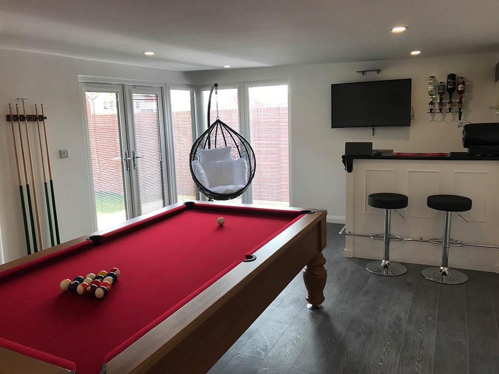 summer house with bar