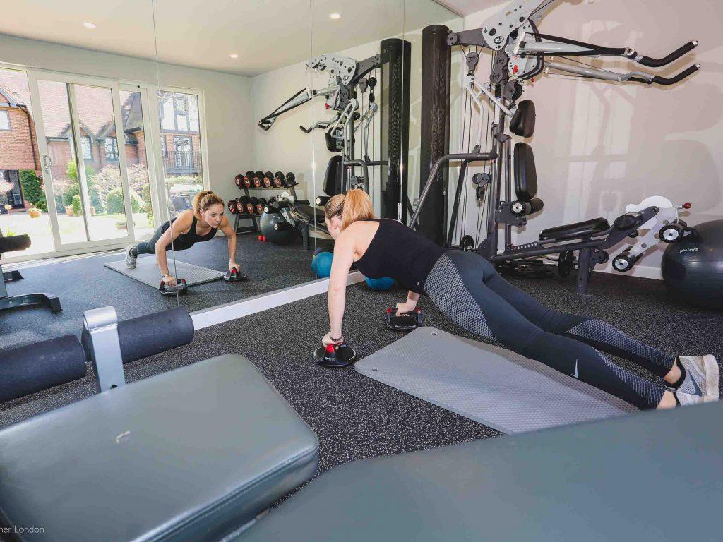 Garden gym fitness room and sauna cabin karina u summer house